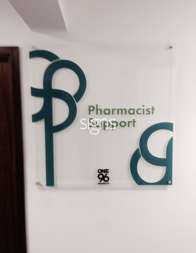 Pharmacist Support Healthcare Signs