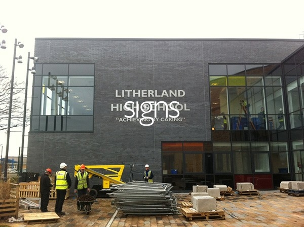 Litherland High School Built up Letter Signage