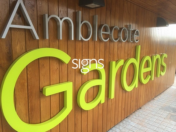 Amblecote Gardens 3D Sign