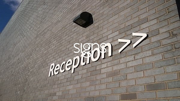 Reception Built up Letter Signage
