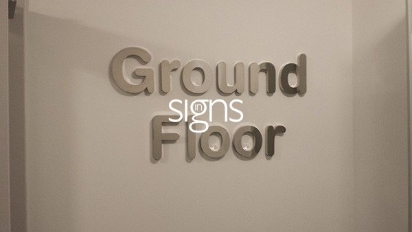 Ground Floor Built up Letter Signage