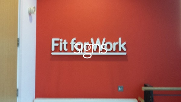 Fit for Work Built up Letter Signage