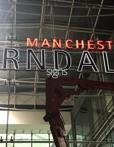 Manchester Arndale 3D Signage