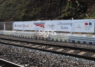 Amco Rail & Network Rail Construction Site Banners