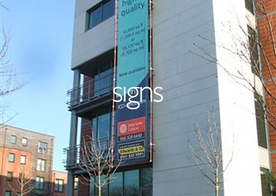 Offices for Rent Construction Site Banner