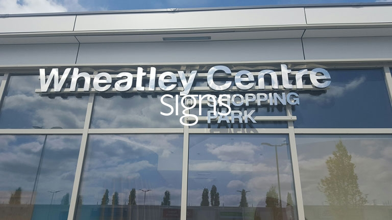 Wheatley Centre Shopping Park 3D Signage