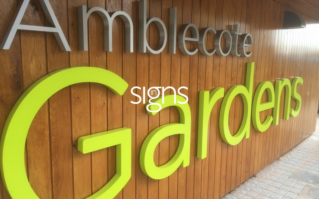 Dimensional signage brings depth to your lettering