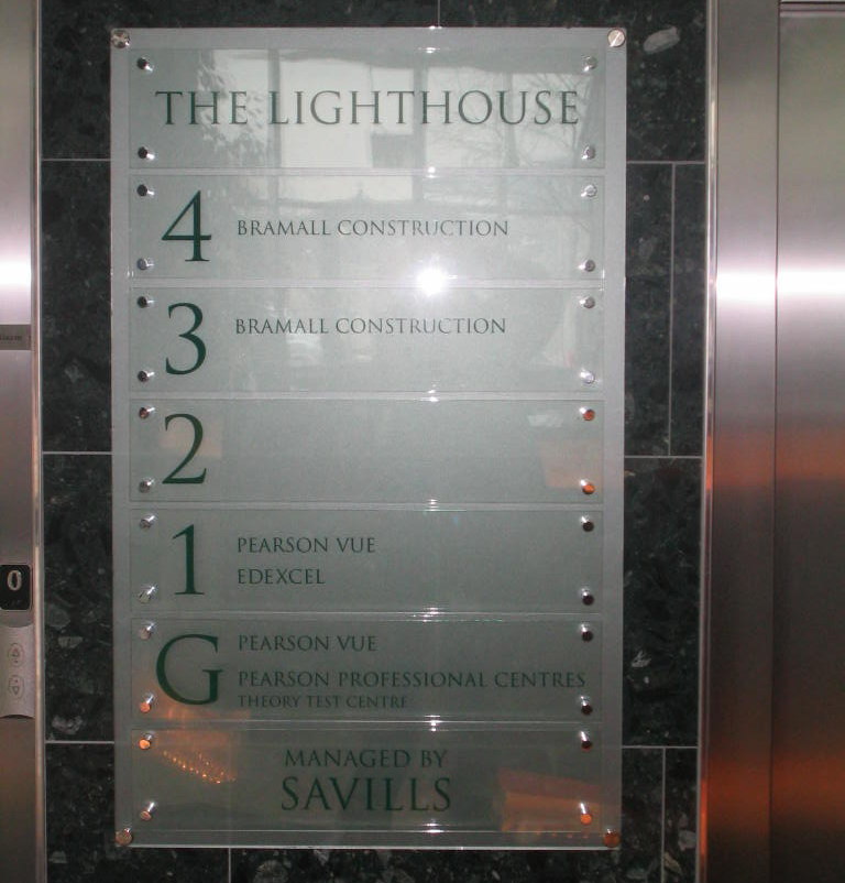The Lighthouse Acrylic Directory Office Signs