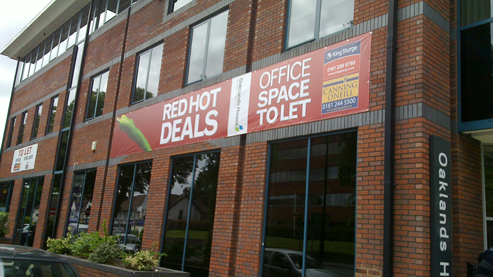 Office Space to Let Construction Site Banner