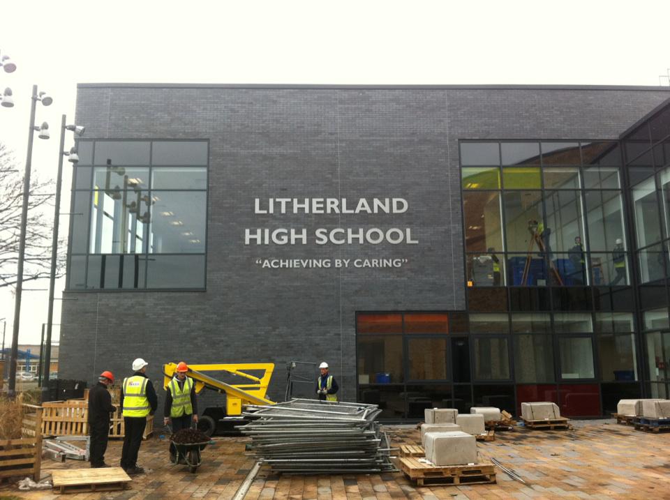 Litherland High School Built up Letter Signage