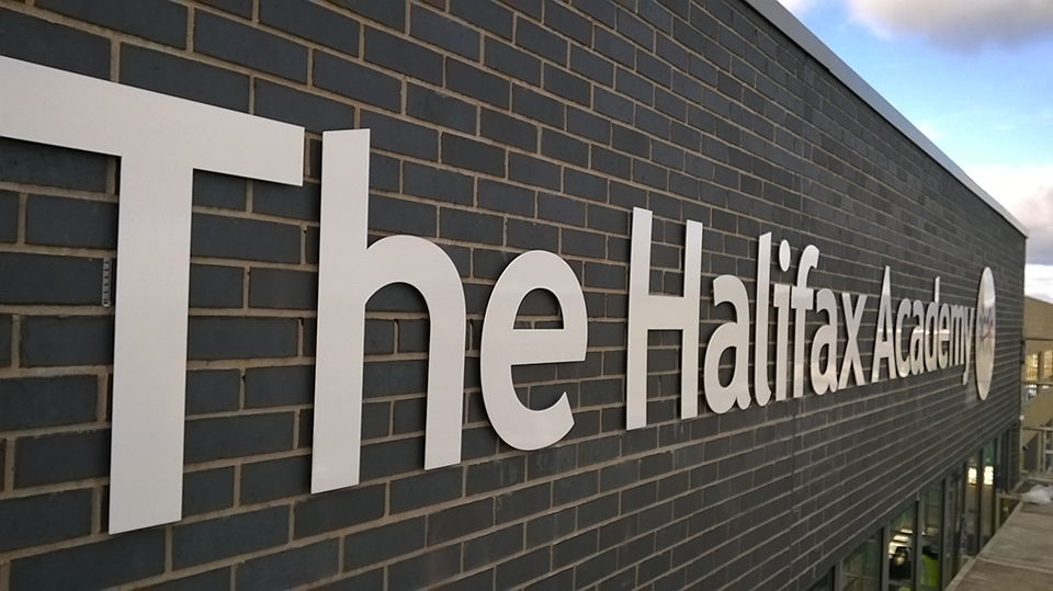 The Halifax Academy Built up Letter Signage