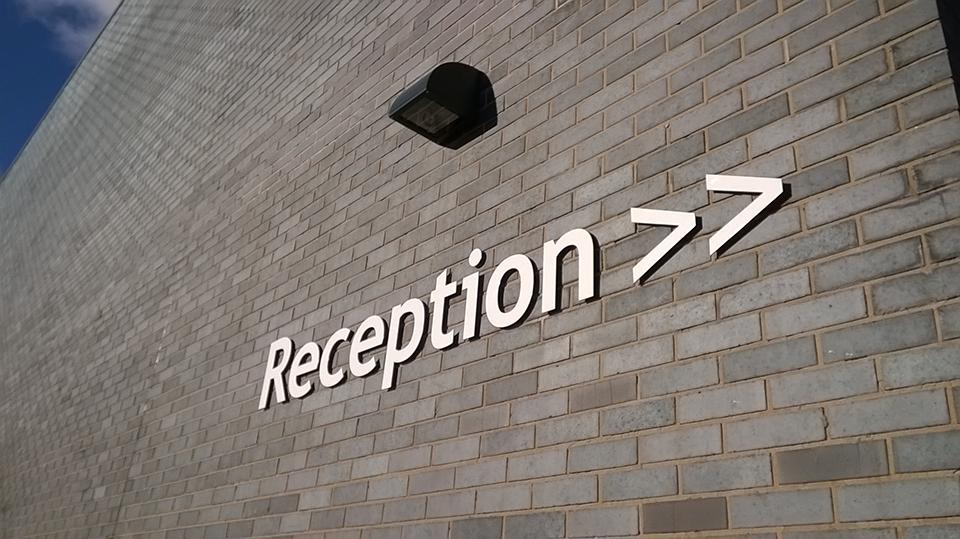 Reception Built up Letter Signage