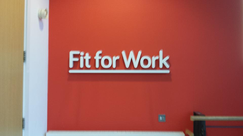 Fit for Work Built up Letter Signage