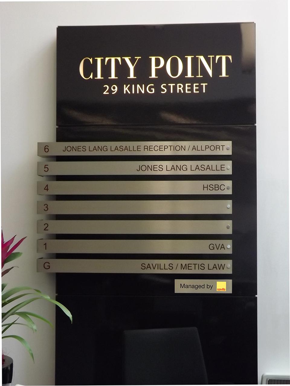City Point Built up Letter Signage