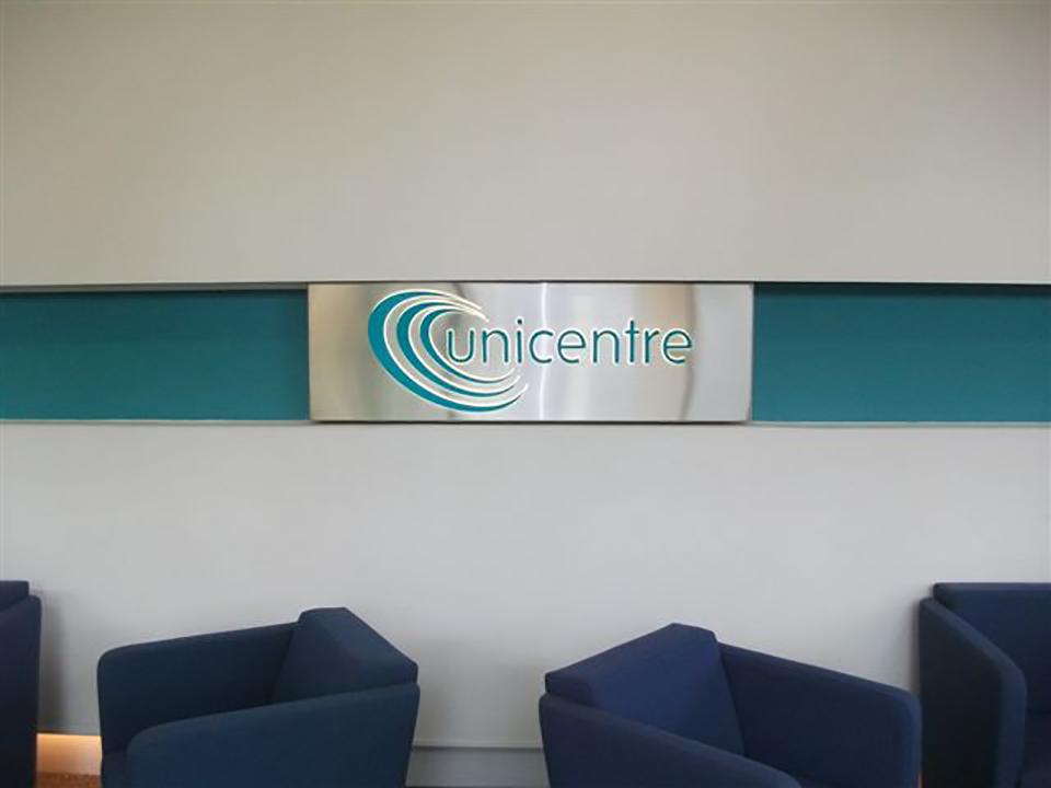 Unicentre Built up Letter Signage