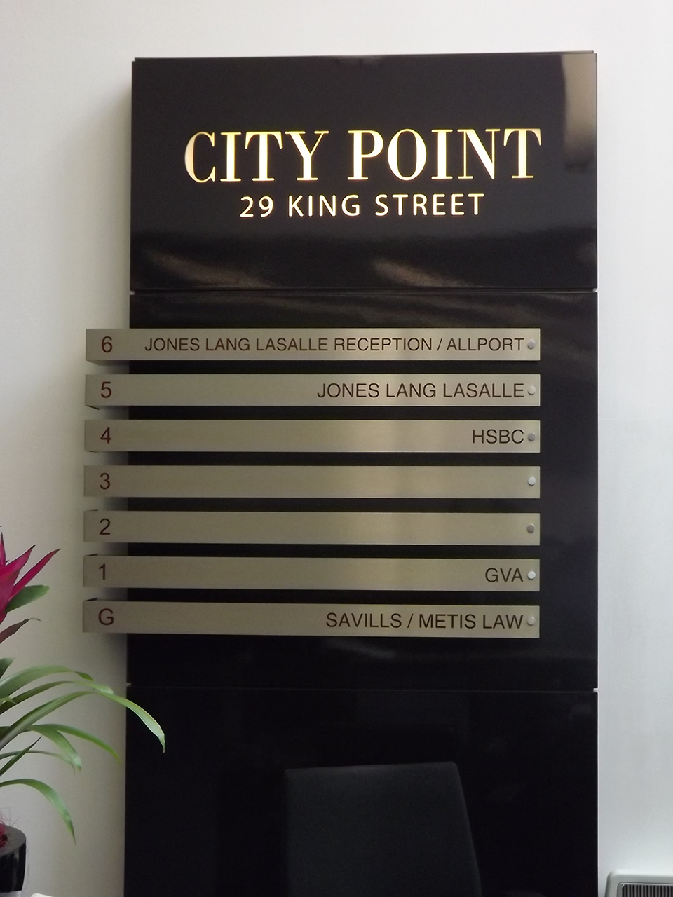 City Point Built up Letter Signage