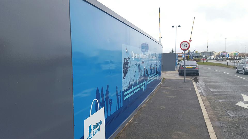 New Mersey Shopping Park Construction Hoarding Panels
