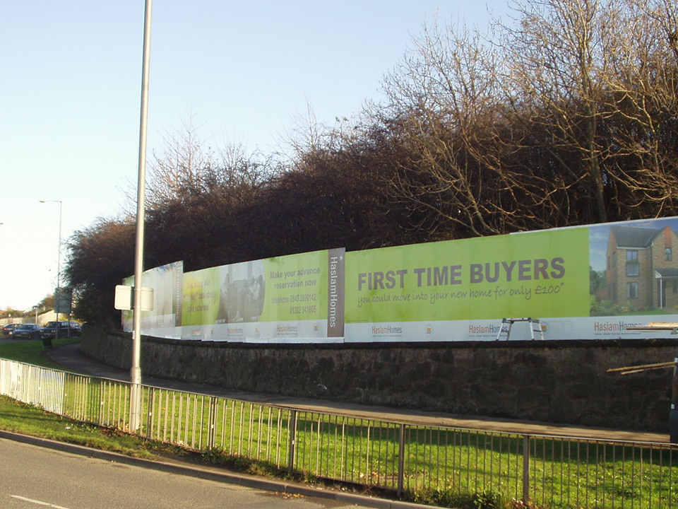 First Time Buyers Construction Hoarding Panels