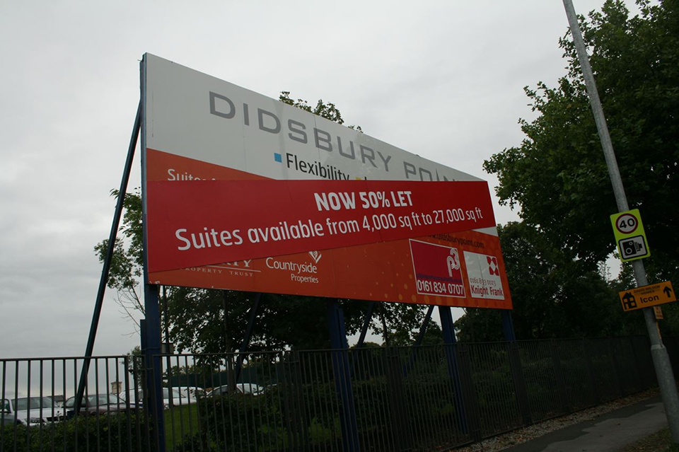 Didsbury Point Offices for Let Construction Hoarding Panels