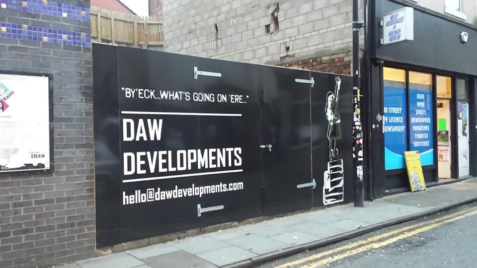Daw Developments Construction Hoarding Panels