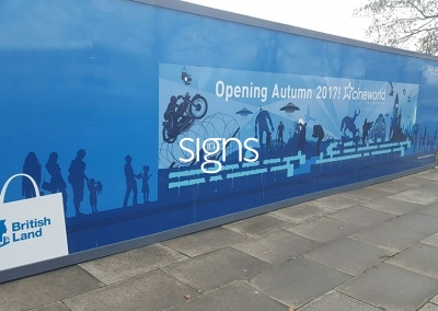 New Mersey Shopping Park Construction Hoarding Panels