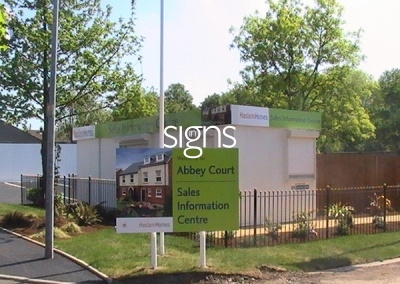 Abbey Court Sign Post