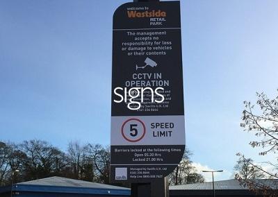 Westside Retail Park Sign Post