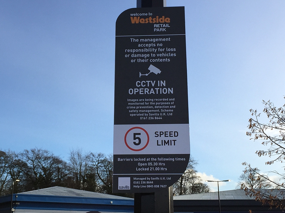 Westside Retail Park Sign Post