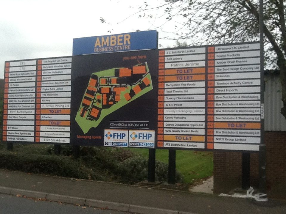 Amber Business Centre Sign Post