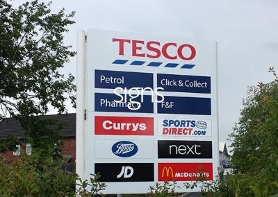 Retail Park Sign Post