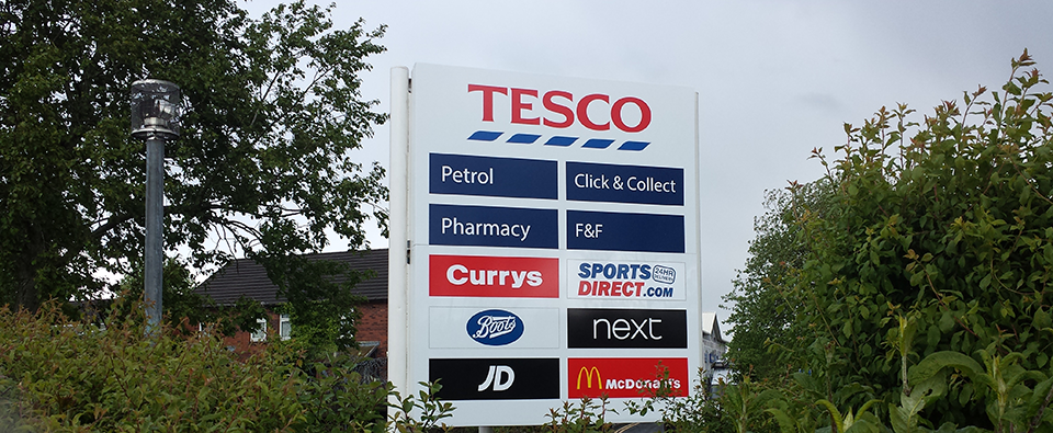 Retail Park Sign Post