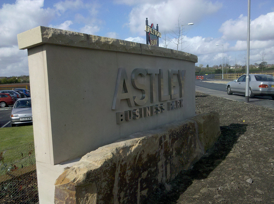 Astley Business Park Stone Sign