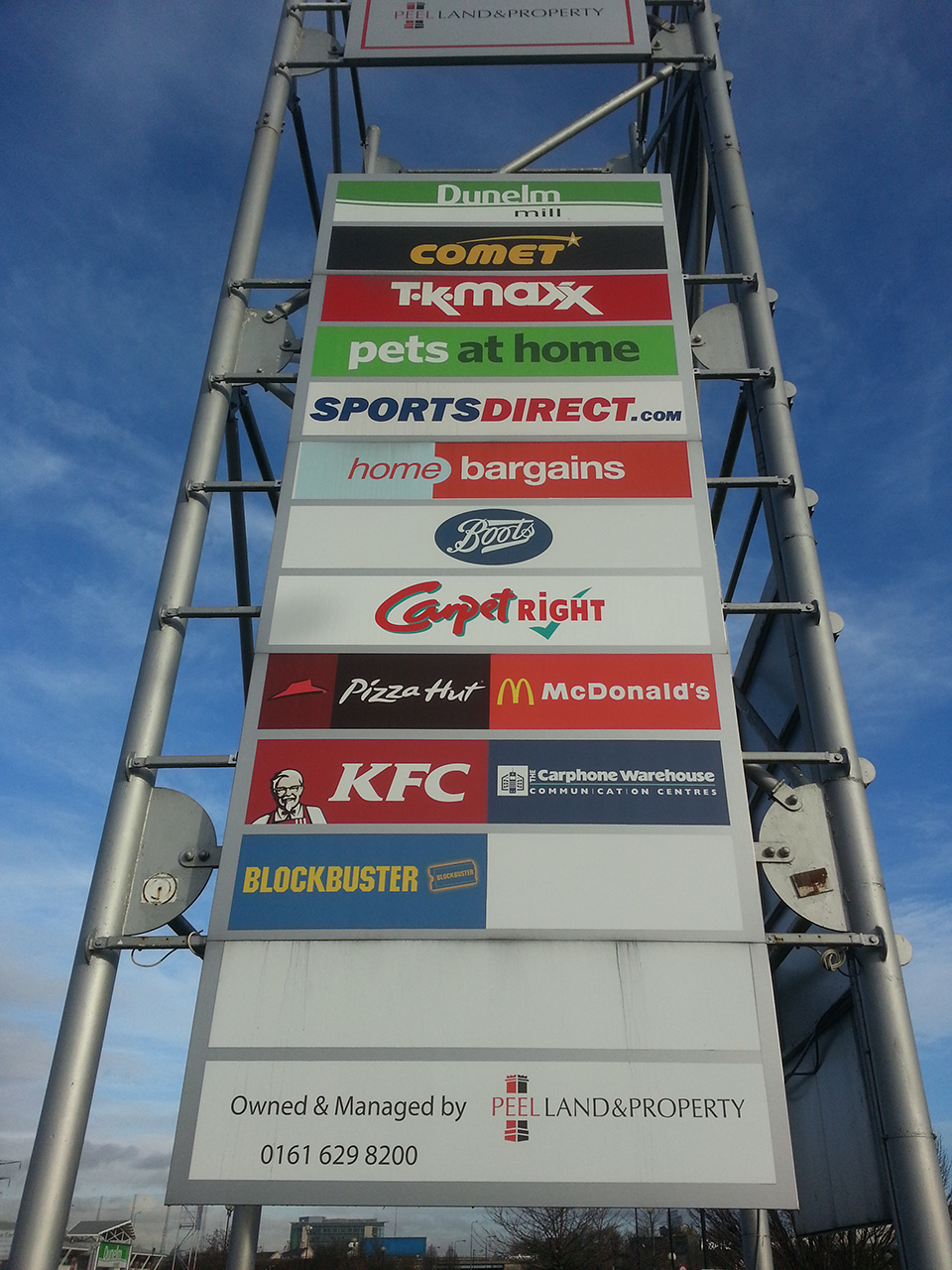 Peel Land and Property Retail Totem Signage