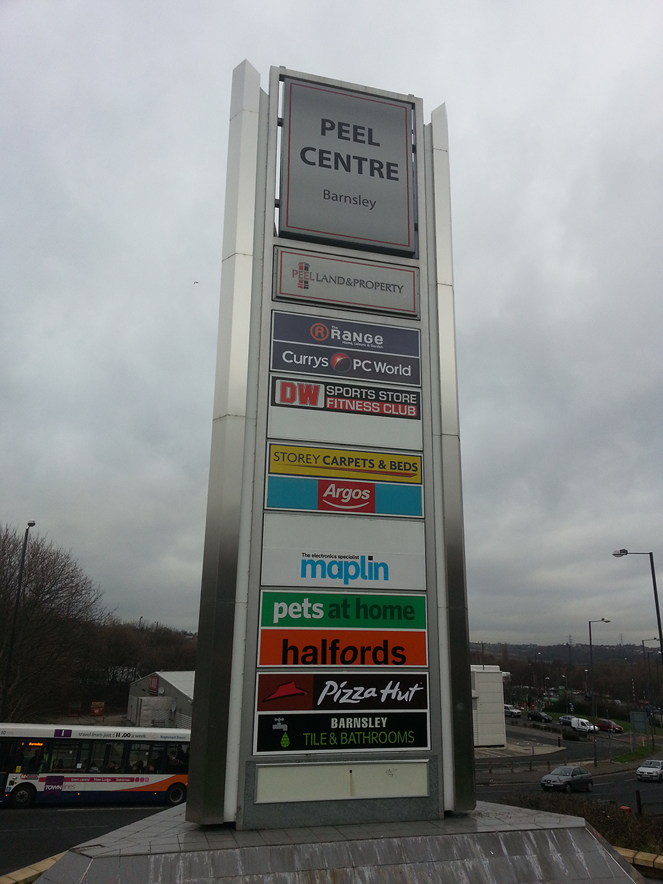 Peel Centre Barnsley Retail Park Totem Signage