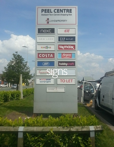 Peel Centre Shopping Park Totem Signage