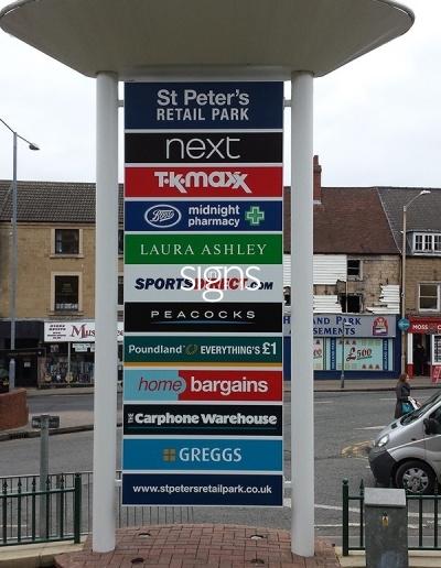 St. Peters Retail Park Totem Signage