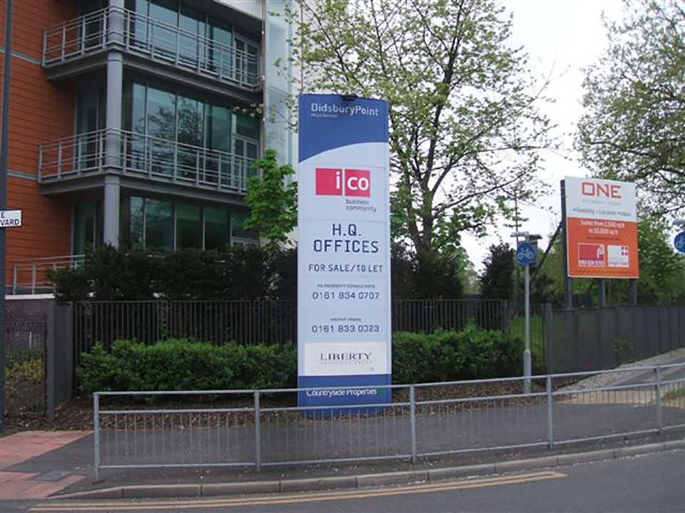 Didsbury Point Office Totem Signage