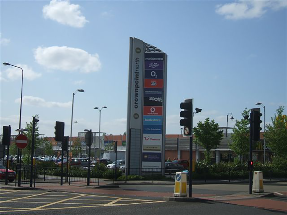 Crownpoint North Shopping Park Totem Signage