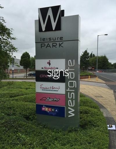 Westgate Leisure Park Totem Signage