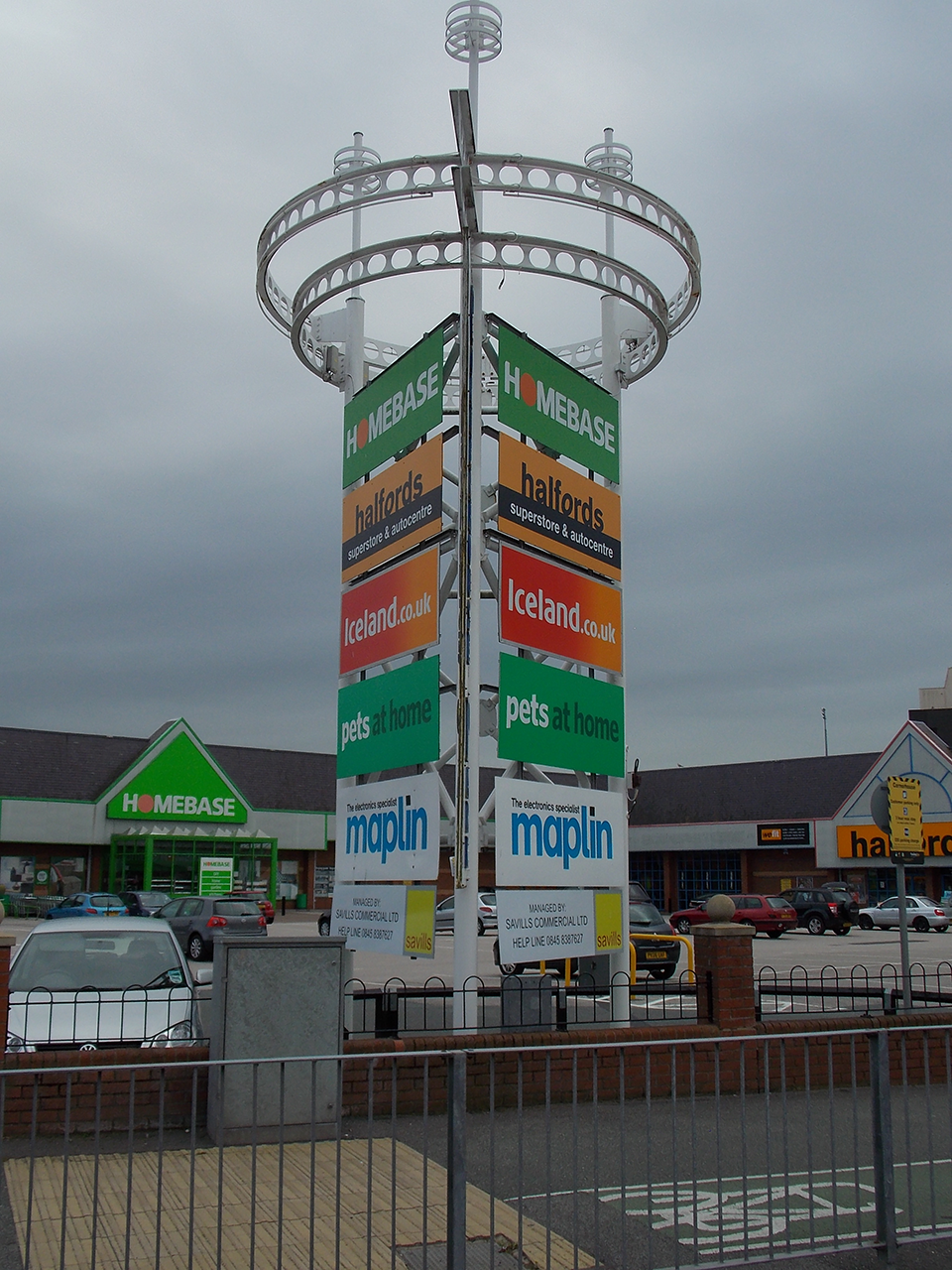 Savills Commercial Ltd Retail Park Signage