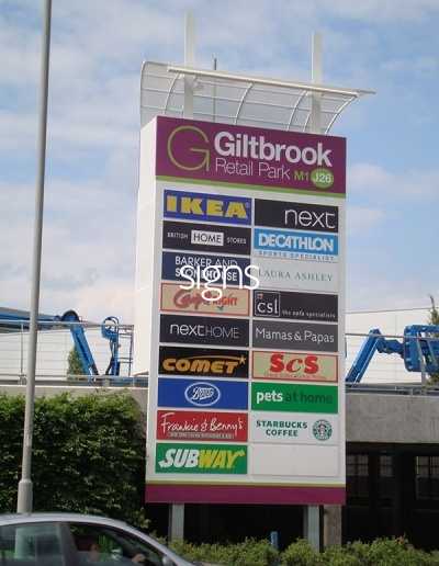 Giltbrook Retail Park Totem Signage