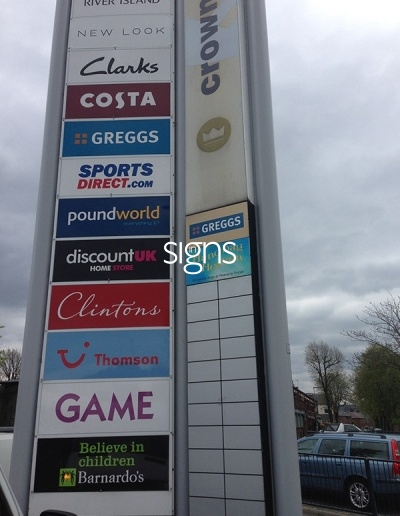 Crownpoint Retail Park Totem Signage