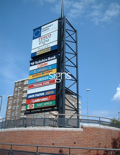 Seacroft Green Shopping Centre Totem Signage