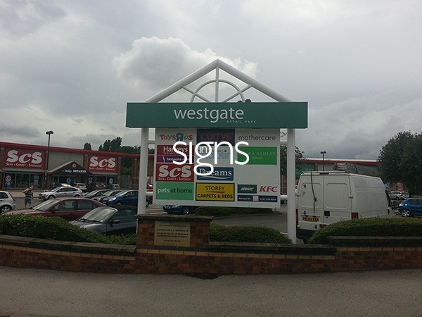 Westgate Retail Park Totem Signage