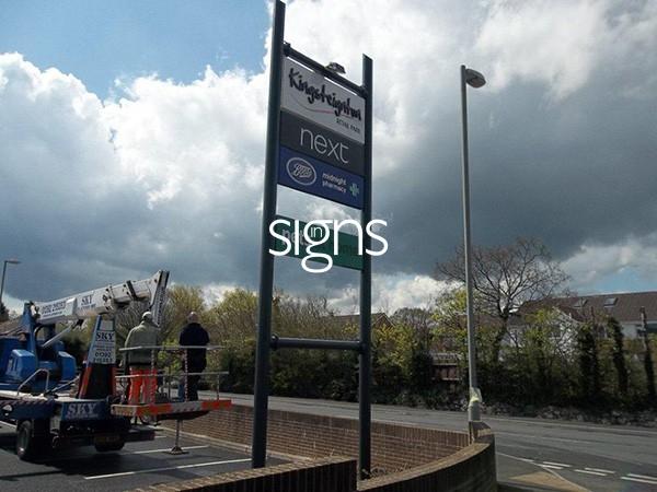 Kingsteignton Retail Park Totem Signage