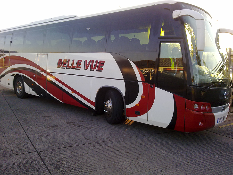 Belle Vue Coach Signage for Vehicles