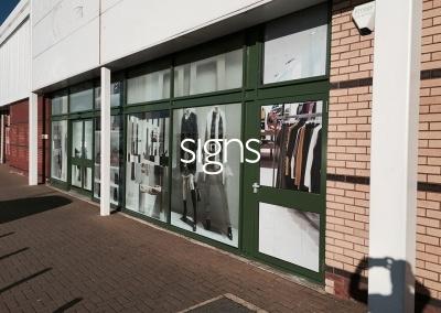 New Store Window Vinyl Signs