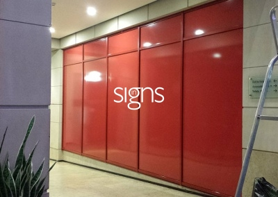 Red Window Vinyl Signs