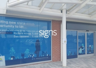 New Store to Let Window Vinyl Signs