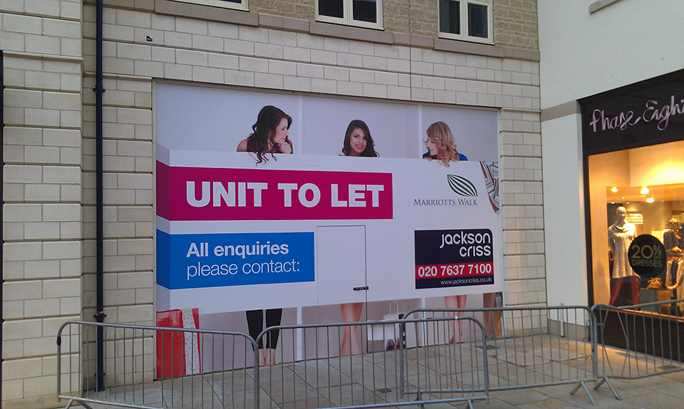 Unit to Let Window Vinyl Signs